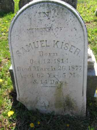 KISER, SAMUEL - Bucks County, Pennsylvania | SAMUEL KISER - Pennsylvania Gravestone Photos