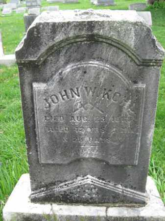 KOHL, JOHN W. - Bucks County, Pennsylvania | JOHN W. KOHL - Pennsylvania Gravestone Photos