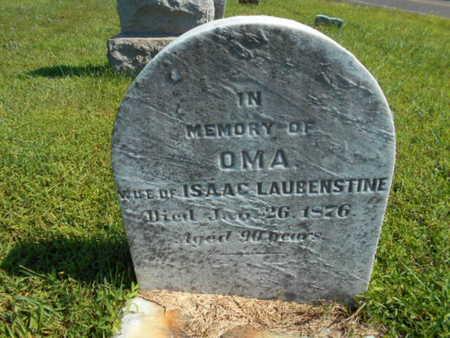 LAUBENSTINE, OMA - Bucks County, Pennsylvania | OMA LAUBENSTINE - Pennsylvania Gravestone Photos
