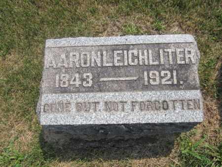 LEICHLITER, AARON - Bucks County, Pennsylvania | AARON LEICHLITER - Pennsylvania Gravestone Photos