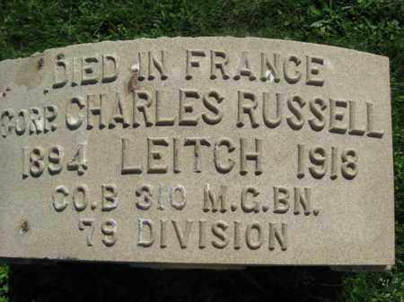 LEITCH (WW I), CHARLES RUSSELL - Bucks County, Pennsylvania | CHARLES RUSSELL LEITCH (WW I) - Pennsylvania Gravestone Photos