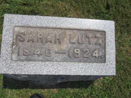 LUTZ, SARAH - Bucks County, Pennsylvania | SARAH LUTZ - Pennsylvania Gravestone Photos