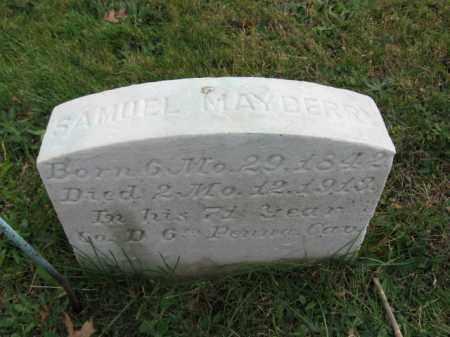 MAYBERRY, SAMUEL - Bucks County, Pennsylvania | SAMUEL MAYBERRY - Pennsylvania Gravestone Photos
