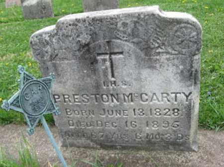MCCARTY, PRESTON - Bucks County, Pennsylvania | PRESTON MCCARTY - Pennsylvania Gravestone Photos