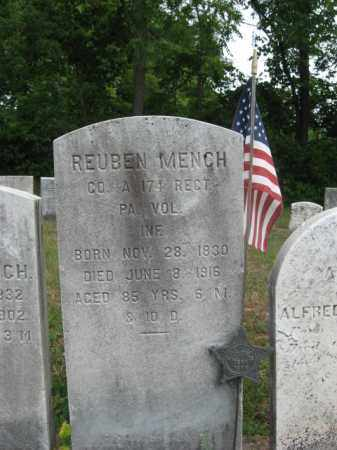MENCH, REUBEN - Bucks County, Pennsylvania | REUBEN MENCH - Pennsylvania Gravestone Photos