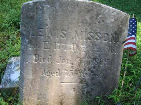 MISSON (MISSION) (CW), LEWIS - Bucks County, Pennsylvania | LEWIS MISSON (MISSION) (CW) - Pennsylvania Gravestone Photos
