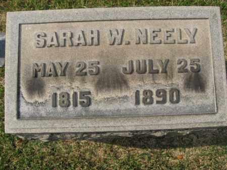 NEELY, SARAH W. - Bucks County, Pennsylvania | SARAH W. NEELY - Pennsylvania Gravestone Photos