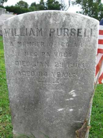 PURSELL (CW), WILLIAM - Bucks County, Pennsylvania | WILLIAM PURSELL (CW) - Pennsylvania Gravestone Photos