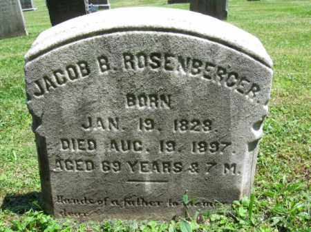 ROSENBERGER, JACOB - Bucks County, Pennsylvania | JACOB ROSENBERGER - Pennsylvania Gravestone Photos
