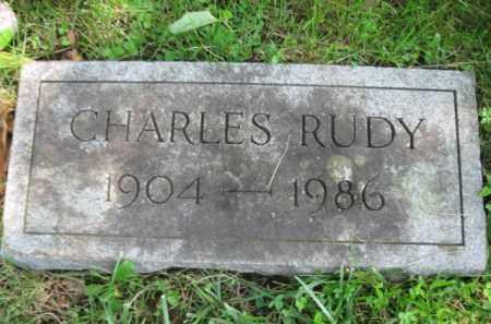 RUDY, CHARLES - Bucks County, Pennsylvania | CHARLES RUDY - Pennsylvania Gravestone Photos