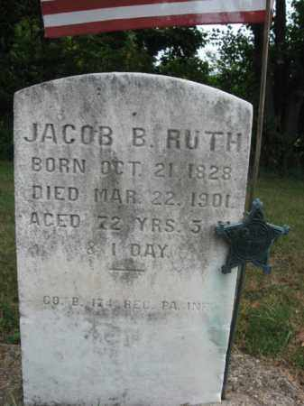 RUTH, JACOB  B. - Bucks County, Pennsylvania   JACOB  B. RUTH - Pennsylvania Gravestone Photos