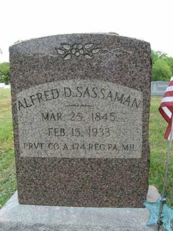 SASSAMAN, ALFRED  D. - Bucks County, Pennsylvania   ALFRED  D. SASSAMAN - Pennsylvania Gravestone Photos