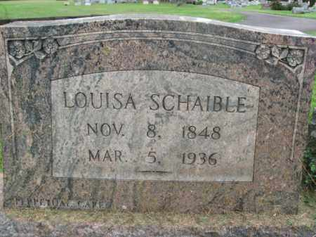 SCHAIBLE, LOUISA - Bucks County, Pennsylvania | LOUISA SCHAIBLE - Pennsylvania Gravestone Photos