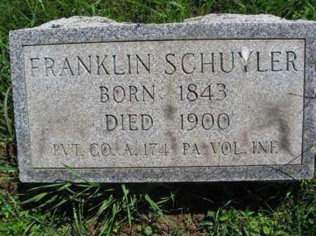 SCHUYLER (CW), FRANKLIN S. - Bucks County, Pennsylvania   FRANKLIN S. SCHUYLER (CW) - Pennsylvania Gravestone Photos