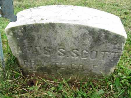 SCOTT (CW), PVT.AMOS S. (L) - Bucks County, Pennsylvania | PVT.AMOS S. (L) SCOTT (CW) - Pennsylvania Gravestone Photos