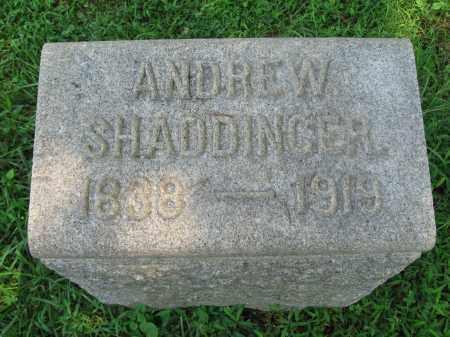 SHADDINGER, ANDREW - Bucks County, Pennsylvania | ANDREW SHADDINGER - Pennsylvania Gravestone Photos
