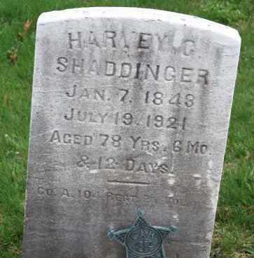 SHADDINGER (CW), HARVEY G. - Bucks County, Pennsylvania | HARVEY G. SHADDINGER (CW) - Pennsylvania Gravestone Photos