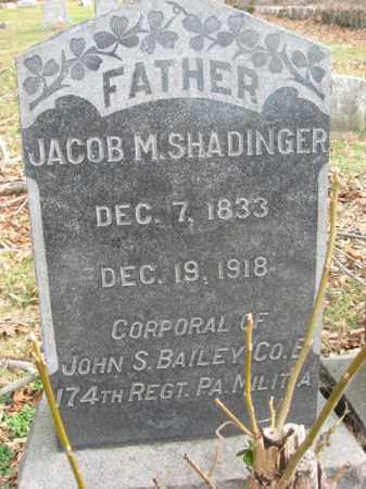 SHADINGER (CW), JACOB M. - Bucks County, Pennsylvania | JACOB M. SHADINGER (CW) - Pennsylvania Gravestone Photos