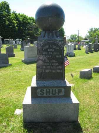 SHUP, JOHN F. - Bucks County, Pennsylvania   JOHN F. SHUP - Pennsylvania Gravestone Photos