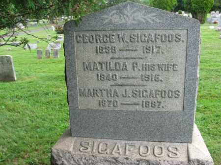 SIGAFOOS (CW), GEORGE W. - Bucks County, Pennsylvania | GEORGE W. SIGAFOOS (CW) - Pennsylvania Gravestone Photos