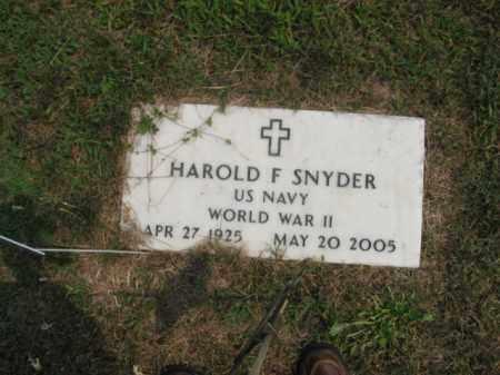 SNYDER, HAROLD  F. - Bucks County, Pennsylvania | HAROLD  F. SNYDER - Pennsylvania Gravestone Photos