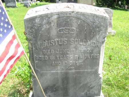 SOLOMON (CW), SGT,.AUGUSTUS - Bucks County, Pennsylvania | SGT,.AUGUSTUS SOLOMON (CW) - Pennsylvania Gravestone Photos