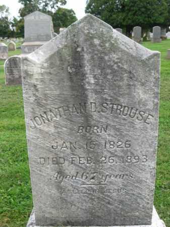 STROUSE, JONATHAN D. - Bucks County, Pennsylvania | JONATHAN D. STROUSE - Pennsylvania Gravestone Photos