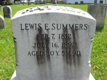 SUMMERS, LEWIS E. - Bucks County, Pennsylvania   LEWIS E. SUMMERS - Pennsylvania Gravestone Photos