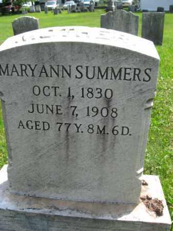 SUMMERS, MARYANN - Bucks County, Pennsylvania   MARYANN SUMMERS - Pennsylvania Gravestone Photos