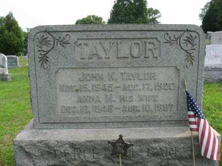 TAYLOR, ANNA M. - Bucks County, Pennsylvania | ANNA M. TAYLOR - Pennsylvania Gravestone Photos