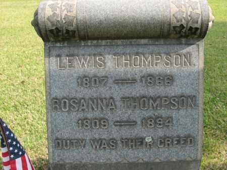 THOMPSON, ROSANNA - Bucks County, Pennsylvania | ROSANNA THOMPSON - Pennsylvania Gravestone Photos