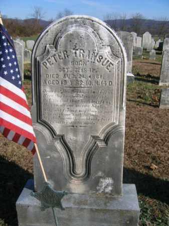 TRANSUE, PETER - Bucks County, Pennsylvania | PETER TRANSUE - Pennsylvania Gravestone Photos