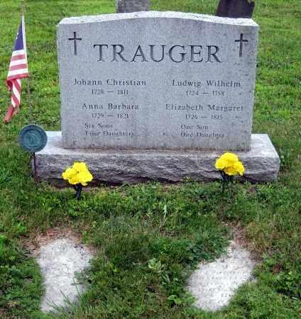 TRAUGER, JOHANN CHRISTIAN - Bucks County, Pennsylvania | JOHANN CHRISTIAN TRAUGER - Pennsylvania Gravestone Photos