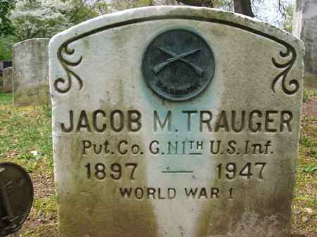 TRAUGER, JACOB M. - Bucks County, Pennsylvania | JACOB M. TRAUGER - Pennsylvania Gravestone Photos