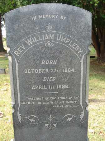 UMPLEBY, REV. WILLIAM - Bucks County, Pennsylvania | REV. WILLIAM UMPLEBY - Pennsylvania Gravestone Photos