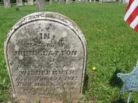 WILDERMUTH, JOHN CLAYTON - Bucks County, Pennsylvania | JOHN CLAYTON WILDERMUTH - Pennsylvania Gravestone Photos