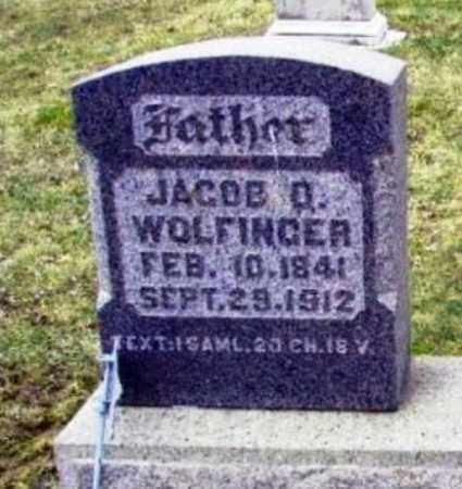 WOLFINGER (CW), JACOB D. - Bucks County, Pennsylvania   JACOB D. WOLFINGER (CW) - Pennsylvania Gravestone Photos