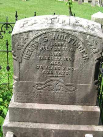 WOLFINGER, HENRY S. - Bucks County, Pennsylvania | HENRY S. WOLFINGER - Pennsylvania Gravestone Photos