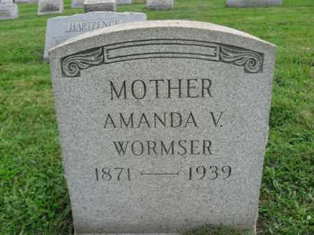 WORMSER, AMANDA V. - Bucks County, Pennsylvania | AMANDA V. WORMSER - Pennsylvania Gravestone Photos
