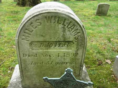 WILLIAMS  (CW), MILES - Bucks County, Pennsylvania | MILES WILLIAMS  (CW) - Pennsylvania Gravestone Photos