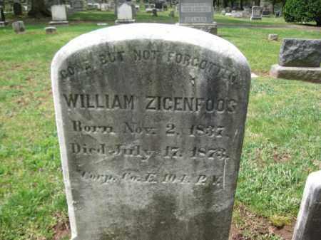 ZIGENFOOS  (SIGAFOOS)  (CW), CORP.WILLIAM - Bucks County, Pennsylvania | CORP.WILLIAM ZIGENFOOS  (SIGAFOOS)  (CW) - Pennsylvania Gravestone Photos