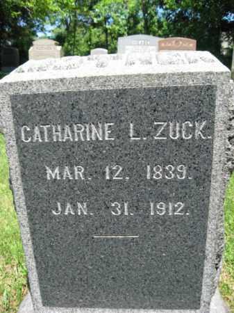 ZUCK, CATHERINE L. - Bucks County, Pennsylvania   CATHERINE L. ZUCK - Pennsylvania Gravestone Photos