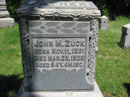 ZUCK, JOHN M. - Bucks County, Pennsylvania | JOHN M. ZUCK - Pennsylvania Gravestone Photos