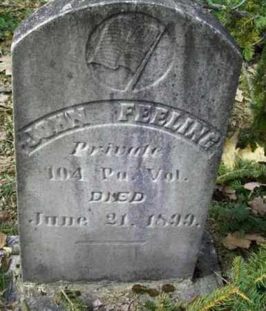 FEELING (FILLING) (CW), JOHN - Cameron County, Pennsylvania | JOHN FEELING (FILLING) (CW) - Pennsylvania Gravestone Photos