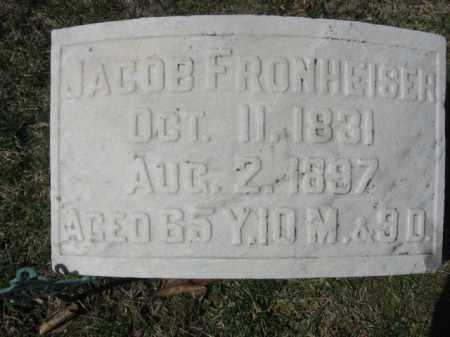 FRONHEISER, JACOB - Carbon County, Pennsylvania | JACOB FRONHEISER - Pennsylvania Gravestone Photos
