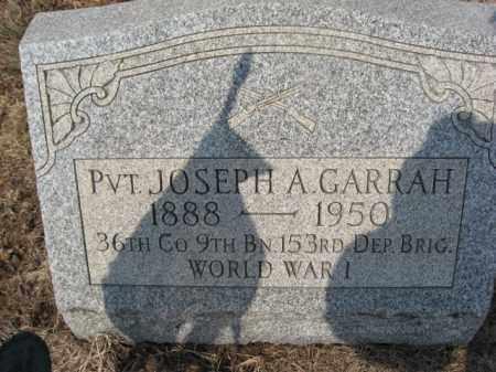 GARRAH (WW I), JOSEPH A. - Carbon County, Pennsylvania | JOSEPH A. GARRAH (WW I) - Pennsylvania Gravestone Photos