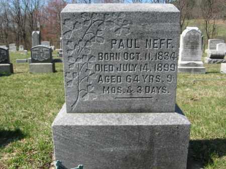 NEFF, PAUL - Carbon County, Pennsylvania | PAUL NEFF - Pennsylvania Gravestone Photos