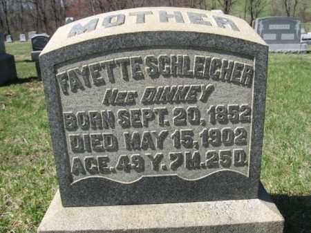 DINKEY SCHLEICHER, FAYETTE - Carbon County, Pennsylvania | FAYETTE DINKEY SCHLEICHER - Pennsylvania Gravestone Photos