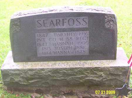 SEARFOSS, JOSEPH - Carbon County, Pennsylvania | JOSEPH SEARFOSS - Pennsylvania Gravestone Photos