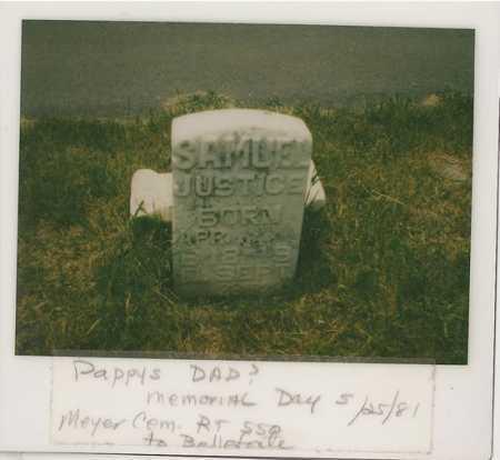 JUSTICE, SAMUEL - Centre County, Pennsylvania | SAMUEL JUSTICE - Pennsylvania Gravestone Photos